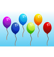 colorful balloons set vector image