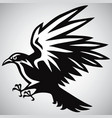 crow logo black and white vector image vector image
