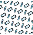 doodle smartphone and usb memory technology vector image vector image