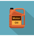 flat oil canister vector image vector image