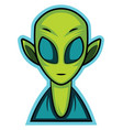 gaming logo an alien on white background vector image