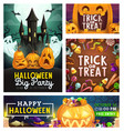 halloween monster party trick or treat candies vector image vector image