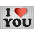I love you sign with heart vector image
