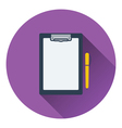 Icon of Tablet and pen vector image