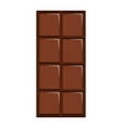isolated chocolate bar icon vector image vector image