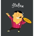 Italian man cartoon character citizen of the