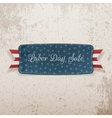 labor day sale tag with text vector image vector image