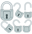 Lock set vector image