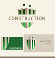 logo business card and cover for construction vector image vector image