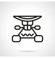 Longboard suspension black line design icon vector image vector image