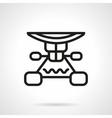 Longboard suspension black line design icon vector image vector image