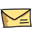 Mail icon sketch vector image