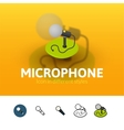 Microphone icon in different style vector image vector image