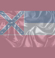mississippi state silk flag vector image vector image
