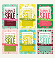 mobile sale banner templates vector image