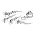 musical score decorations vector image vector image