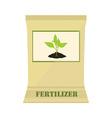 Paper bag with fertilizer vector image vector image