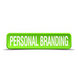 personal branding green 3d realistic square vector image vector image