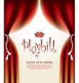 playbill with scenic scenes vector image vector image