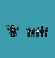 robot taking over human jobs in future vector image vector image