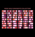 rose gold glossy gradient metal foil texture vector image vector image
