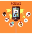 Science infographic flat design vector image
