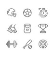 set line icons of sport vector image vector image