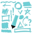 Set of Graphic Signs Arrows Correction Lines vector image vector image