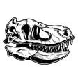 skull tyrannosaurus dinosaur in vintage vector image
