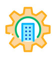 smart house mechanical gear icon outline vector image vector image