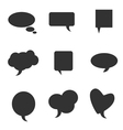 speech bubble pointer silhouette vector image