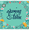 Spring vintage flower background vector image