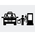 taxi service vector image