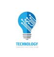 technology lightbulb - concept logo design vector image vector image