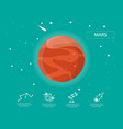 the mars infographic in universe concept vector image