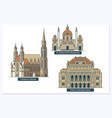 vienna landmarks and monuments isolated on white vector image vector image