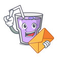with envelope berry smoothie character cartoon vector image