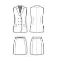 womens vest and skirt vector image vector image