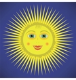 Yellow Cartoon Sun Icon vector image vector image