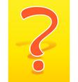 Orange question mark vector image