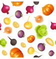background seamless vegetarian with vegetables vector image