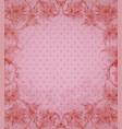 vintage floral pink background vector image
