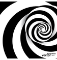 Spiral abstract background dynamic optical art vector image