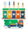 waste management concept recycling vector image