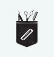 pocket for the hairdresser vector image