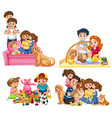 a set of family vector image vector image