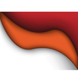 abstract red and orange liquid vector image vector image