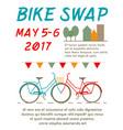 bike swap poster vector image