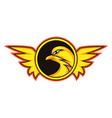 bird gaming logo on white background vector image