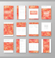 brochure design with abstract background vector image vector image